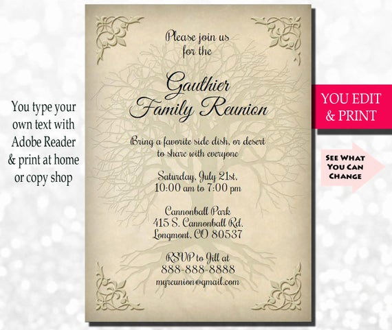 Family Reunion Invitation Letter Lovely Family Reunion Invitation Family Party Invitation Family Get
