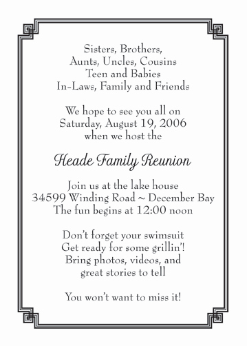 Family Reunion Invitation Letter Lovely Family Reunion Invitation Style Fr 05