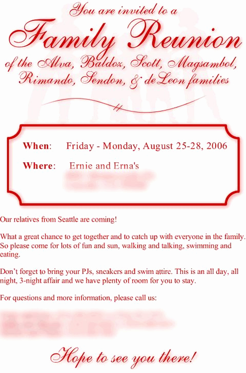 Family Reunion Invitation Letter Unique 17 Best Images About Green Jenkins Family Reunion 2016