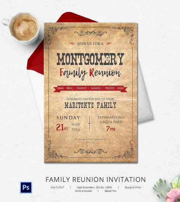 Family Reunion Invitation Sample Beautiful 32 Family Reunion Invitation Templates Free Psd Vector