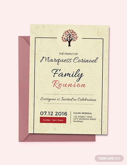Family Reunion Invitation Sample Beautiful 35 Family Reunion Invitation Templates Psd Vector Eps