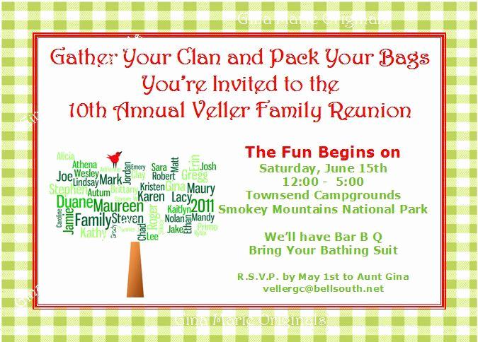 Family Reunion Invitation Sample Beautiful Pin On Futch Family Reunion
