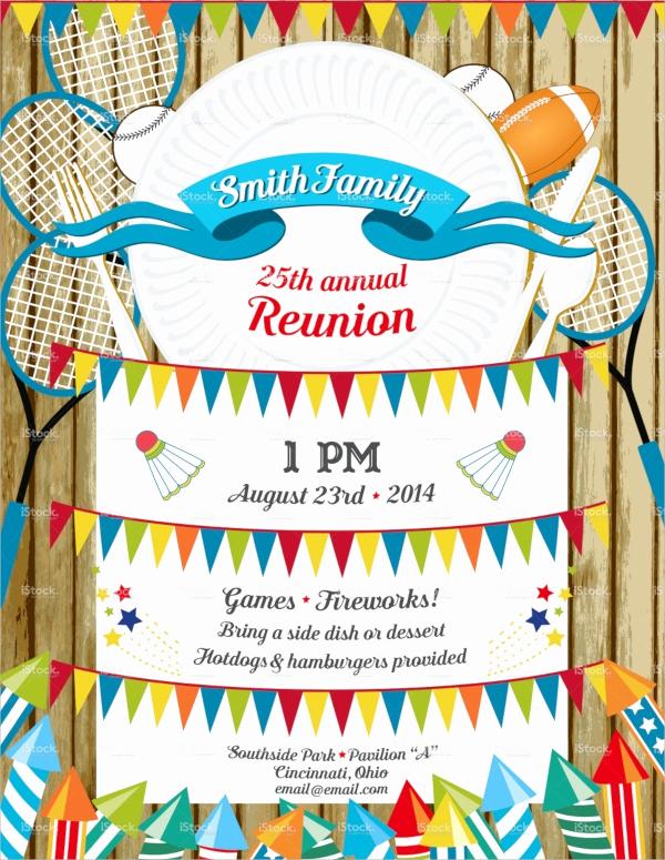 Family Reunion Invitation Sample Elegant 16 Sample Family Reunion Invitations Psd Vector Eps