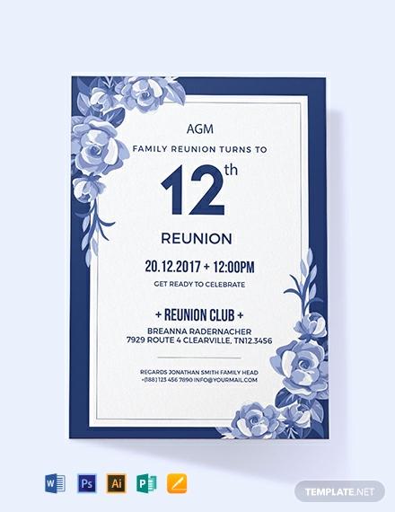 Family Reunion Invitation Sample Inspirational 1095 Free Invitation Templates Pdf Word