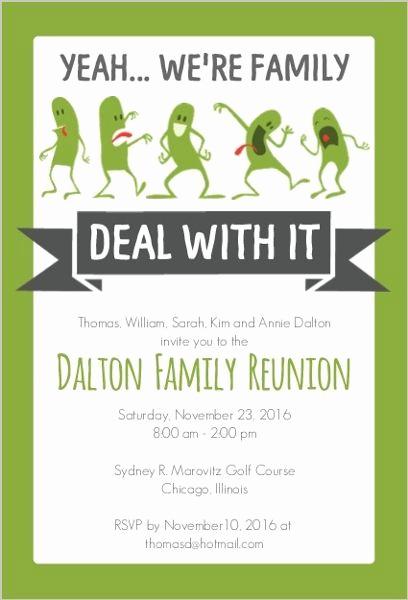 Family Reunion Invitation Sample Inspirational Funny Family Reunion Invitation …