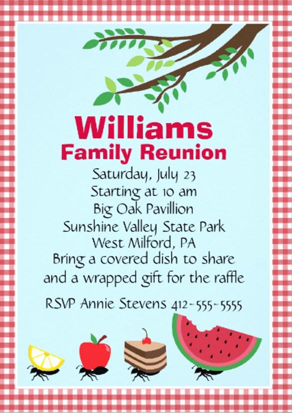 Family Reunion Invitation Sample Lovely 24 Picnic Invitation Template Psd Eps Ai