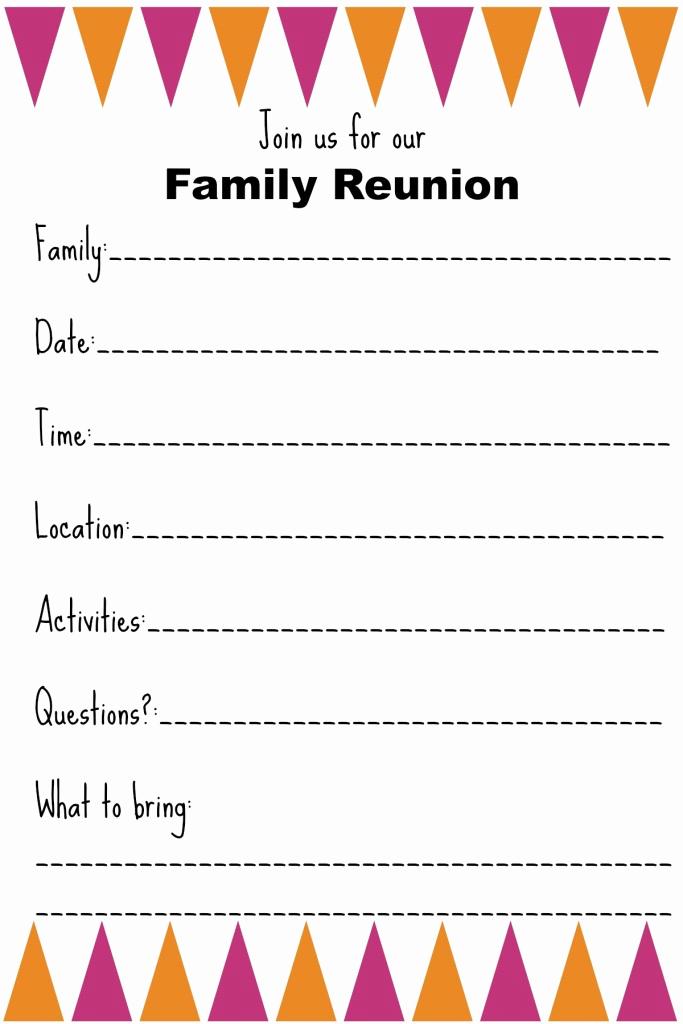 Family Reunion Invitation Sample Lovely Family Reunion Invitation Templates Ginny S Recipes & Tips
