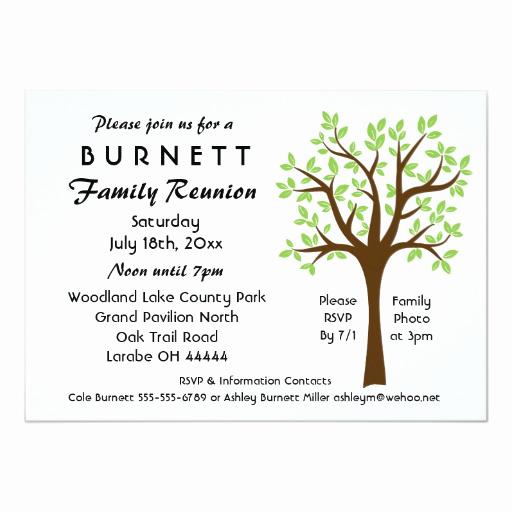 Family Reunion Invitation Sample Lovely Family Tree Reunion Invitation