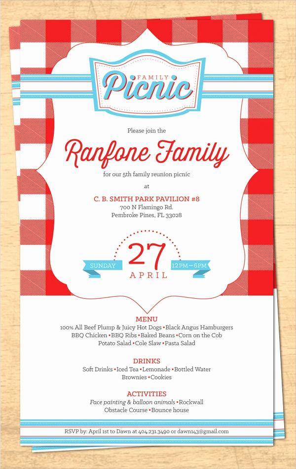 Family Reunion Invitation Sample Luxury 16 Sample Family Reunion Invitations Psd Vector Eps