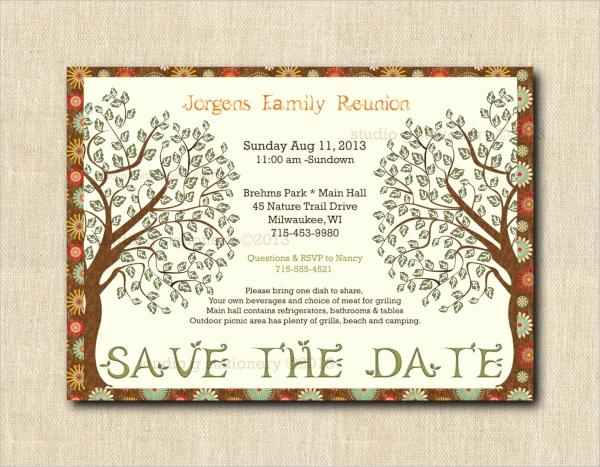 Family Reunion Invitation Sample New 16 Sample Family Reunion Invitations Psd Vector Eps