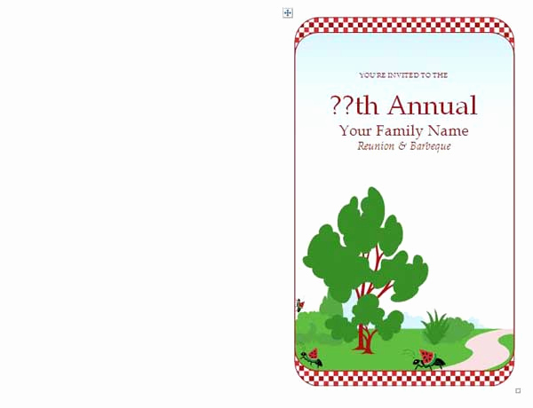 Family Reunion Invitation Templates Awesome Family Reunion Invitations Microsoft Word Templates