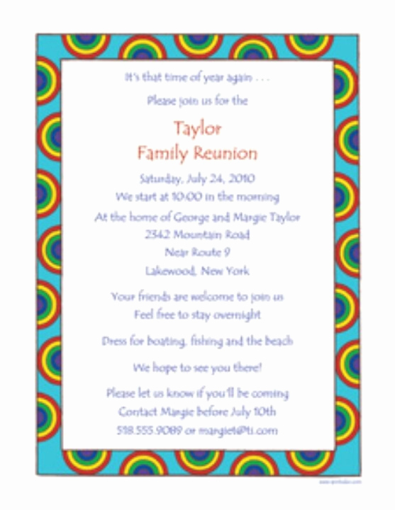 Family Reunion Invitation Templates Awesome Family Reunion Invite