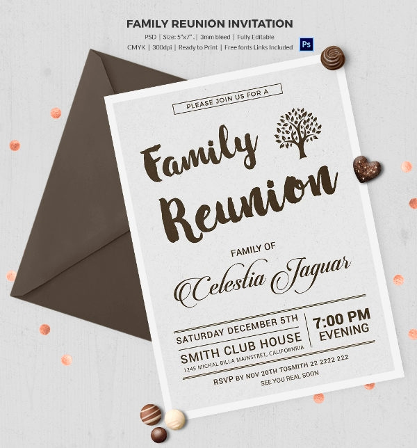 Family Reunion Invitation Templates Best Of 32 Family Reunion Invitation Templates Free Psd Vector