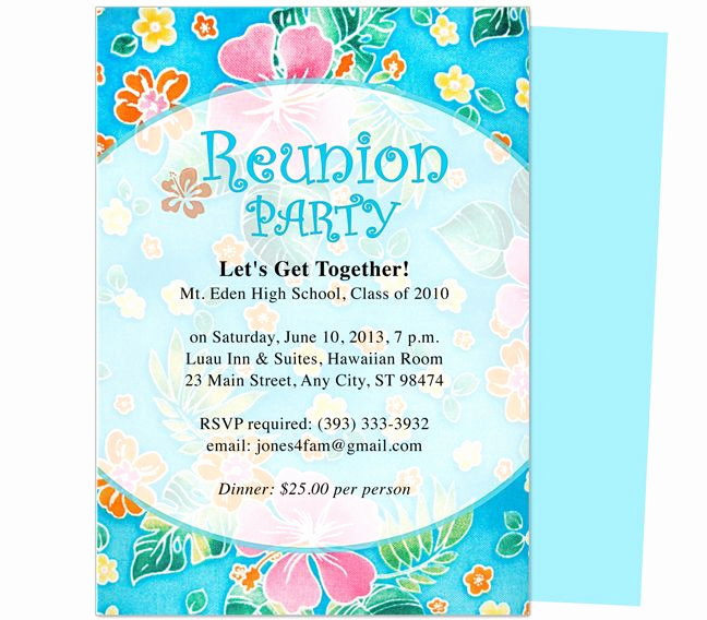 Family Reunion Invitation Templates Free Awesome Festive Reunion Party Invitation Template Edits with Word