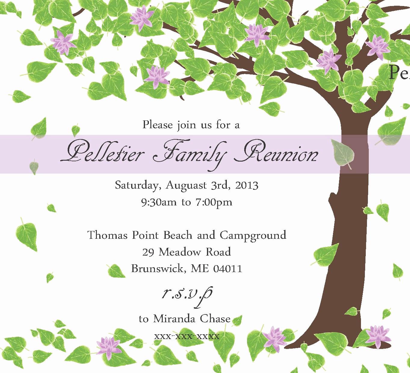 Family Reunion Invitation Templates Free Beautiful Family Reunion Invitation by Littlebopress On Etsy