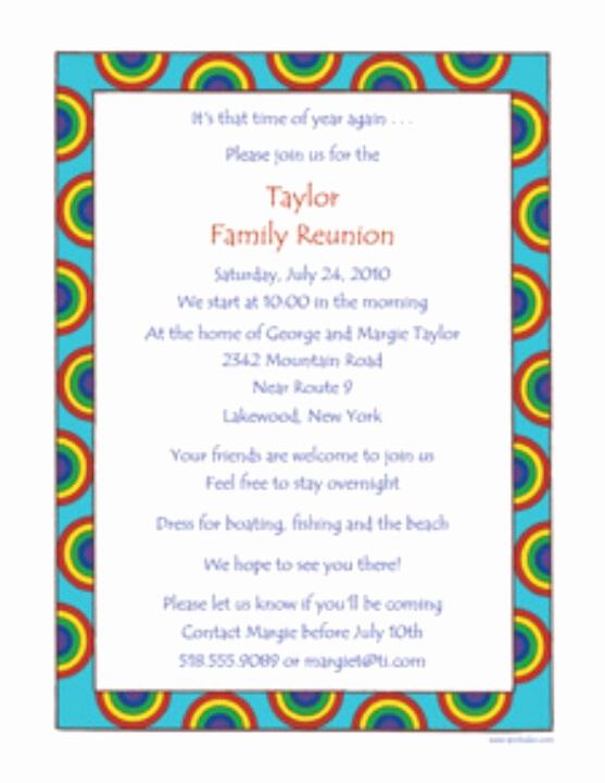 Family Reunion Invitation Templates Free Beautiful Family Reunion Invite
