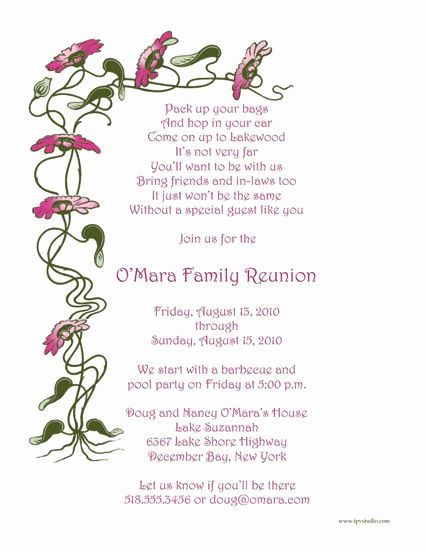 Family Reunion Invitation Templates Free Best Of Pin On Ideas