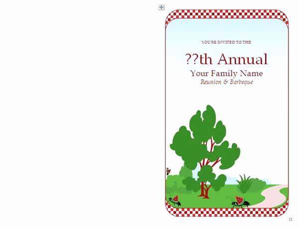 Family Reunion Invitation Templates Free Elegant Family Reunion Invitations Microsoft Word Templates