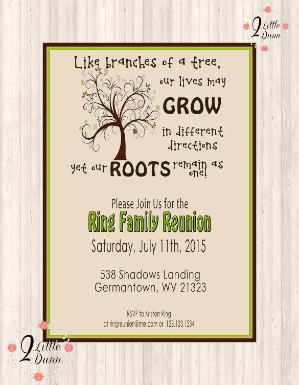 Family Reunion Invitation Templates Free Fresh 35 Family Reunion Invitation Templates Psd Vector Eps