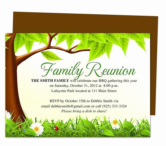 Family Reunion Invitation Templates Free Lovely Family Tree Reunion Party Invitations Templates
