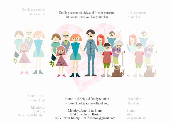 Family Reunion Invitation Templates Free Luxury 32 Family Reunion Invitation Templates Free Psd Vector