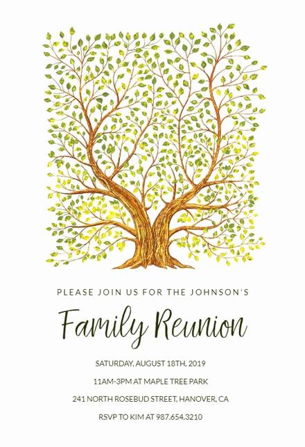 Family Reunion Invitation Templates Inspirational Family Reunion Invitation Templates Free