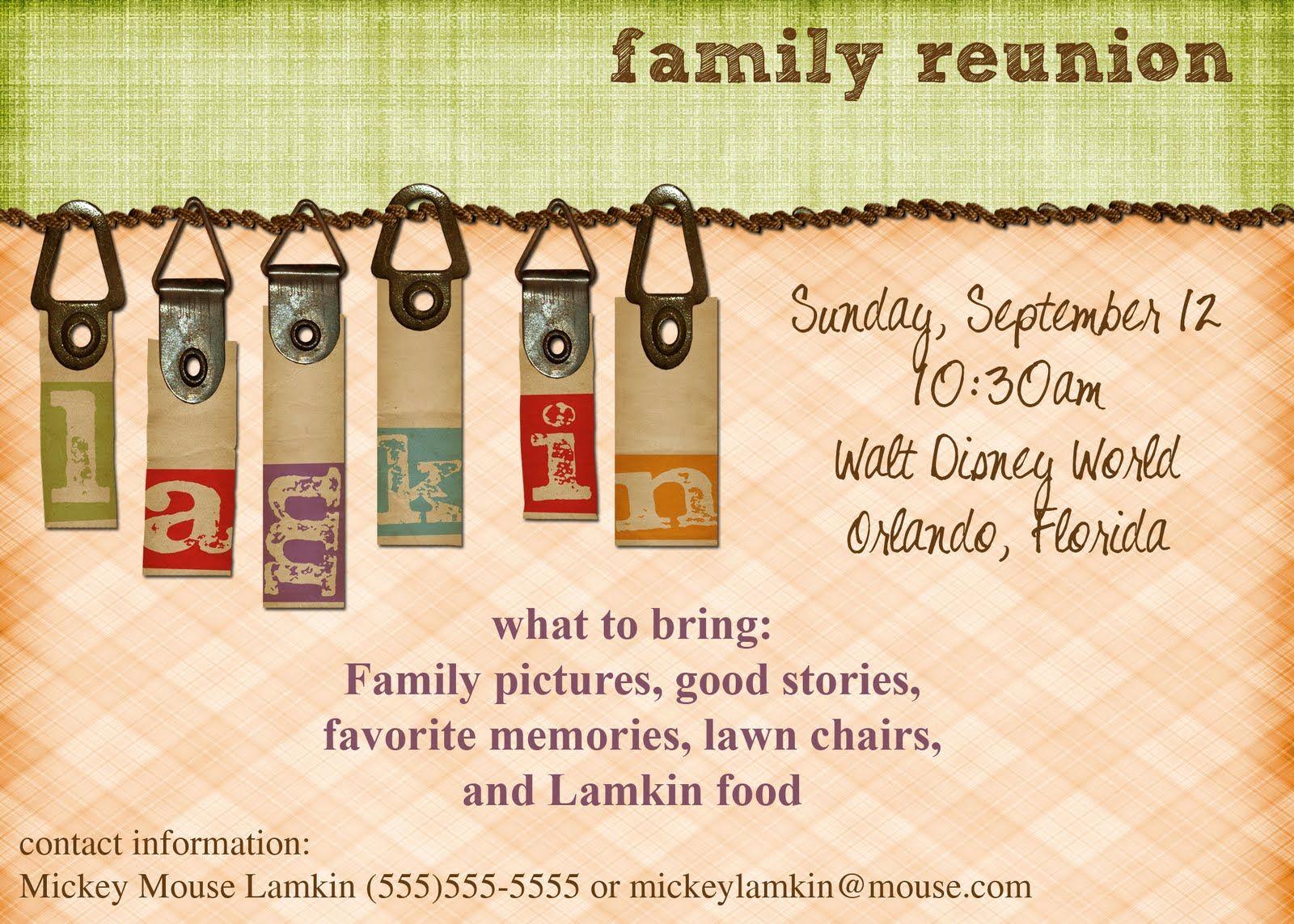 Family Reunion Invitation Templates Inspirational Viewing Gallery for Family Reunion Invitations