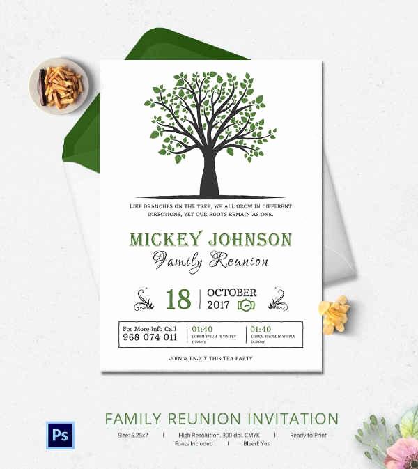 Family Reunion Invitation Templates Lovely 32 Family Reunion Invitation Templates Free Psd Vector
