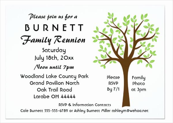 Family Reunion Invitation Templates Luxury 19 Family Reunion Invitation Templates Free & Premium