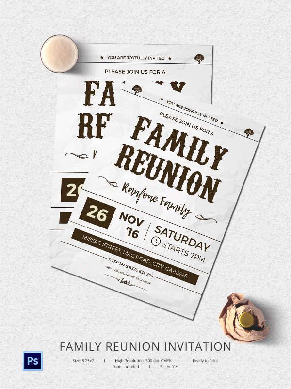 Family Reunion Invitation Templates Luxury 32 Family Reunion Invitation Templates Free Psd Vector