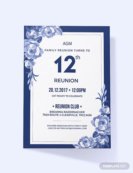 Family Reunion Invitation Templates Luxury Free Vintage Family Reunion Invitation Template Download
