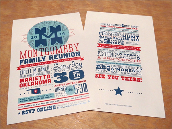 Family Reunion Invitation Templates New 16 Sample Family Reunion Invitations Psd Vector Eps