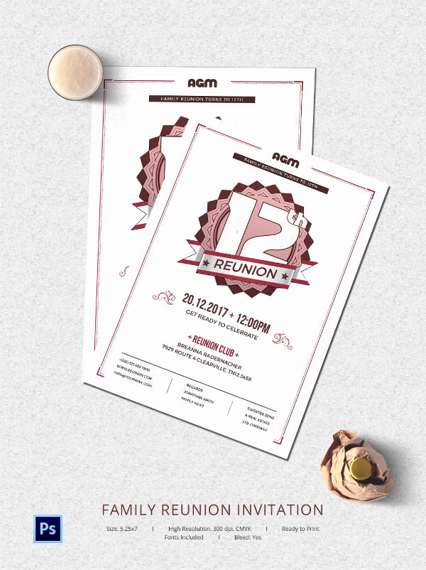 Family Reunion Invitation Templates New 32 Family Reunion Invitation Templates Free Psd Vector