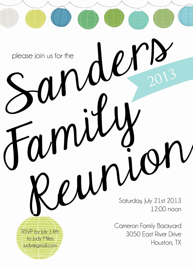 Family Reunion Invitation Templates New 577 Best Invitations Images On Pinterest