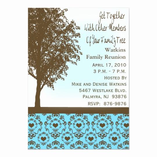 Family Reunion Invitation Templates New Invitation to A Family Reunion