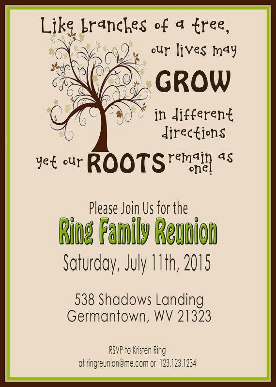Family Reunion Invitation Templates Unique Family Reunion Invite Swirly Tree Printable Digital