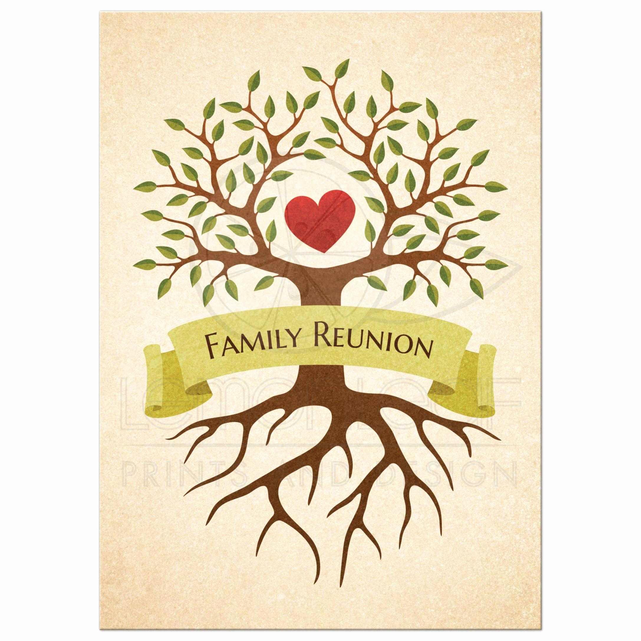 Family Reunion Invitation Wording Lovely Family Reunion Invitations with Beautiful Heart Tree