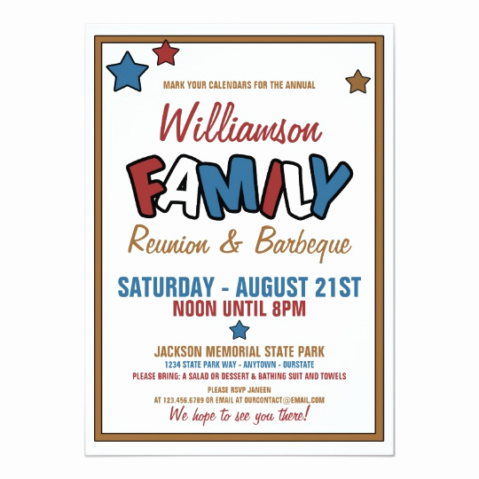 Family Reunion Invitation Wording Luxury Fun Family Reunion Invitations
