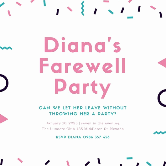 Farewell Party Invitation Wording Fresh Customize 103 Farewell Party Invitation Templates Online