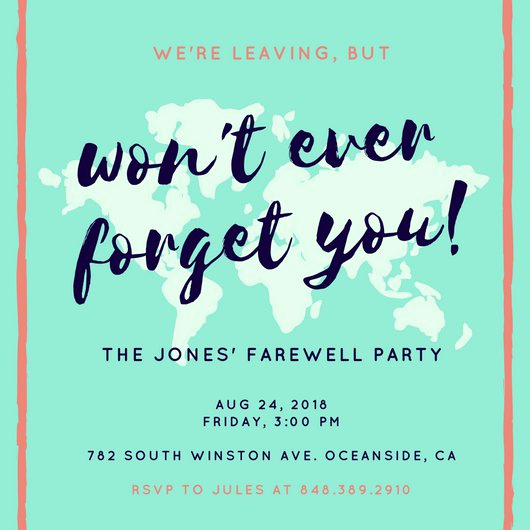 Farewell Party Invitation Wording Luxury Customize 3 999 Farewell Party Invitation Templates