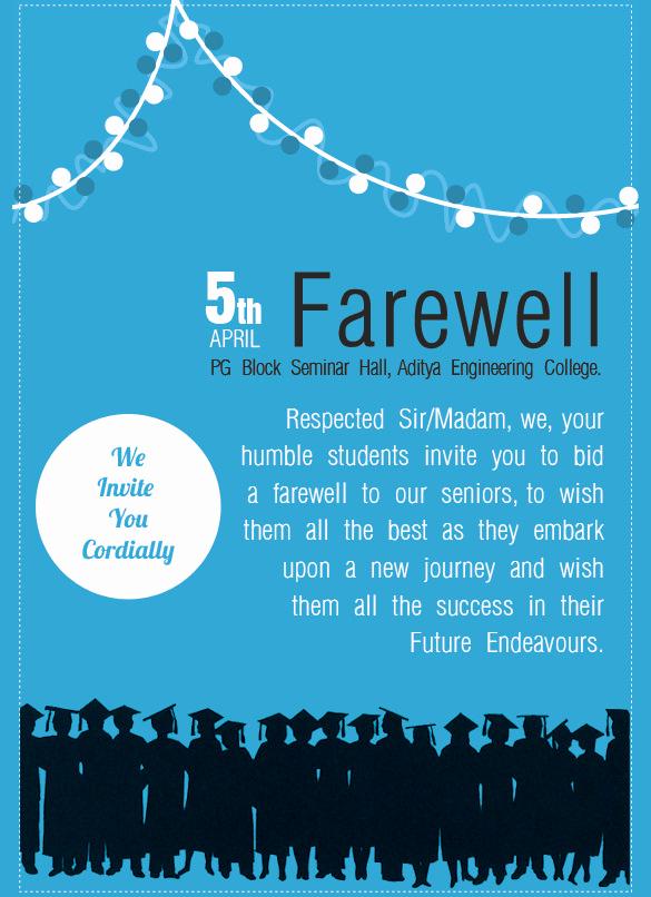 Farewell Party Invitation Wording Luxury Sample Farewell Invitation Template 8 Download