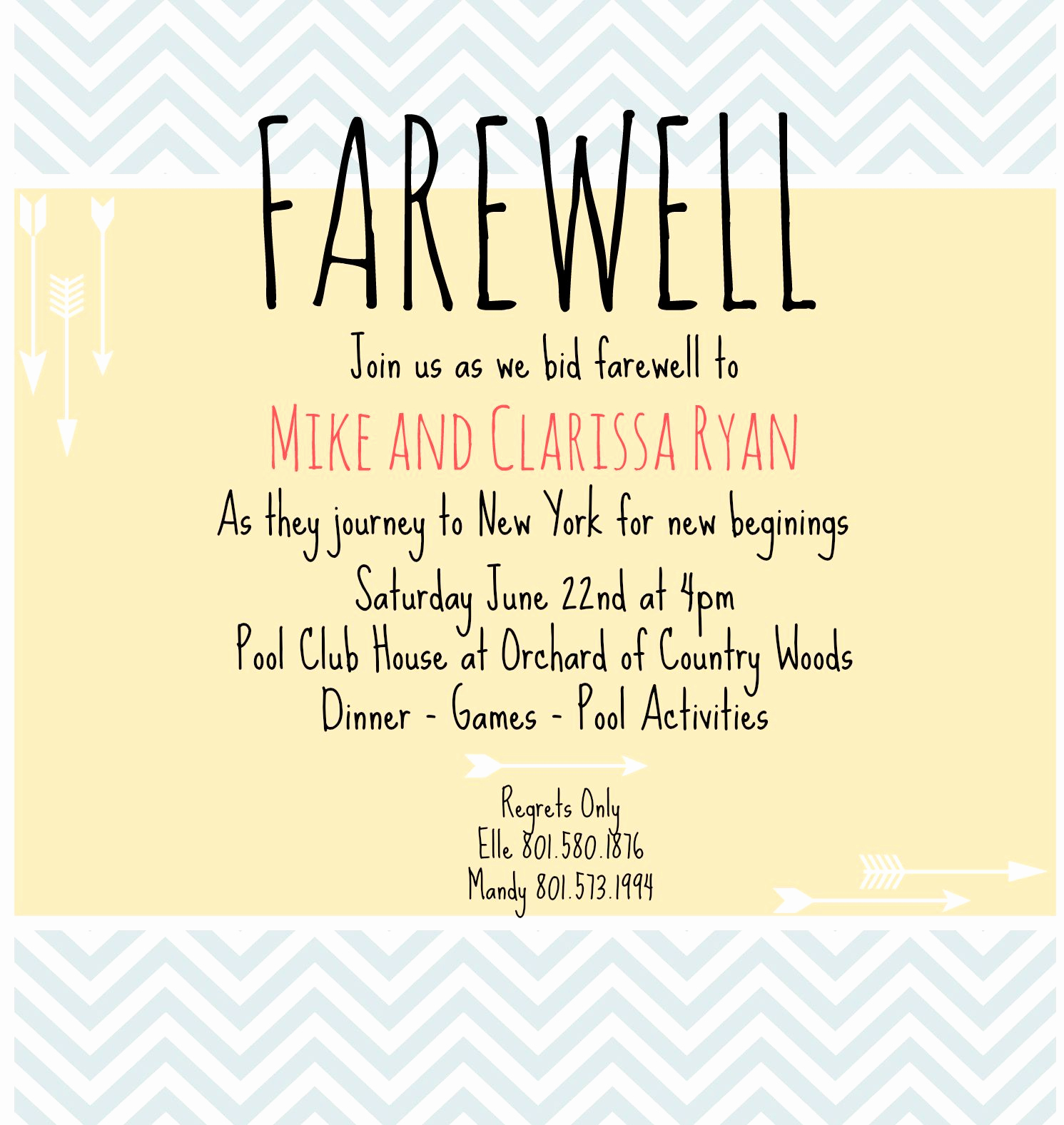 Farewell Party Invitation Wording New Farewell Invite Picmonkey Creations