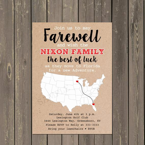 Farewell Party Invitation Wording New Going Away Party Invitation Farewell Party Invite Moving