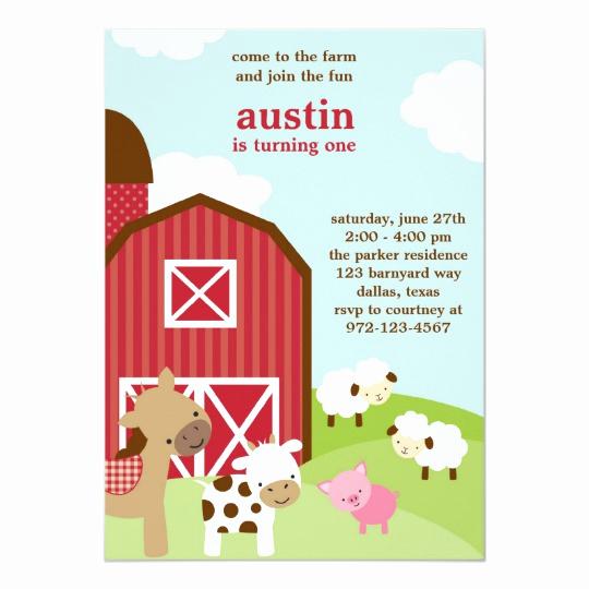 Farm Animal Birthday Invitation Best Of Cute Farm Animal Birthday Invitations