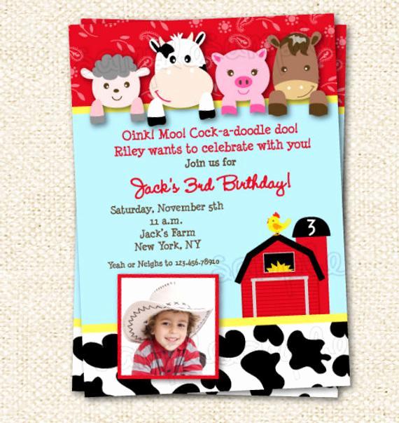 Farm Animal Birthday Invitation Best Of Farm Birthday Invitation