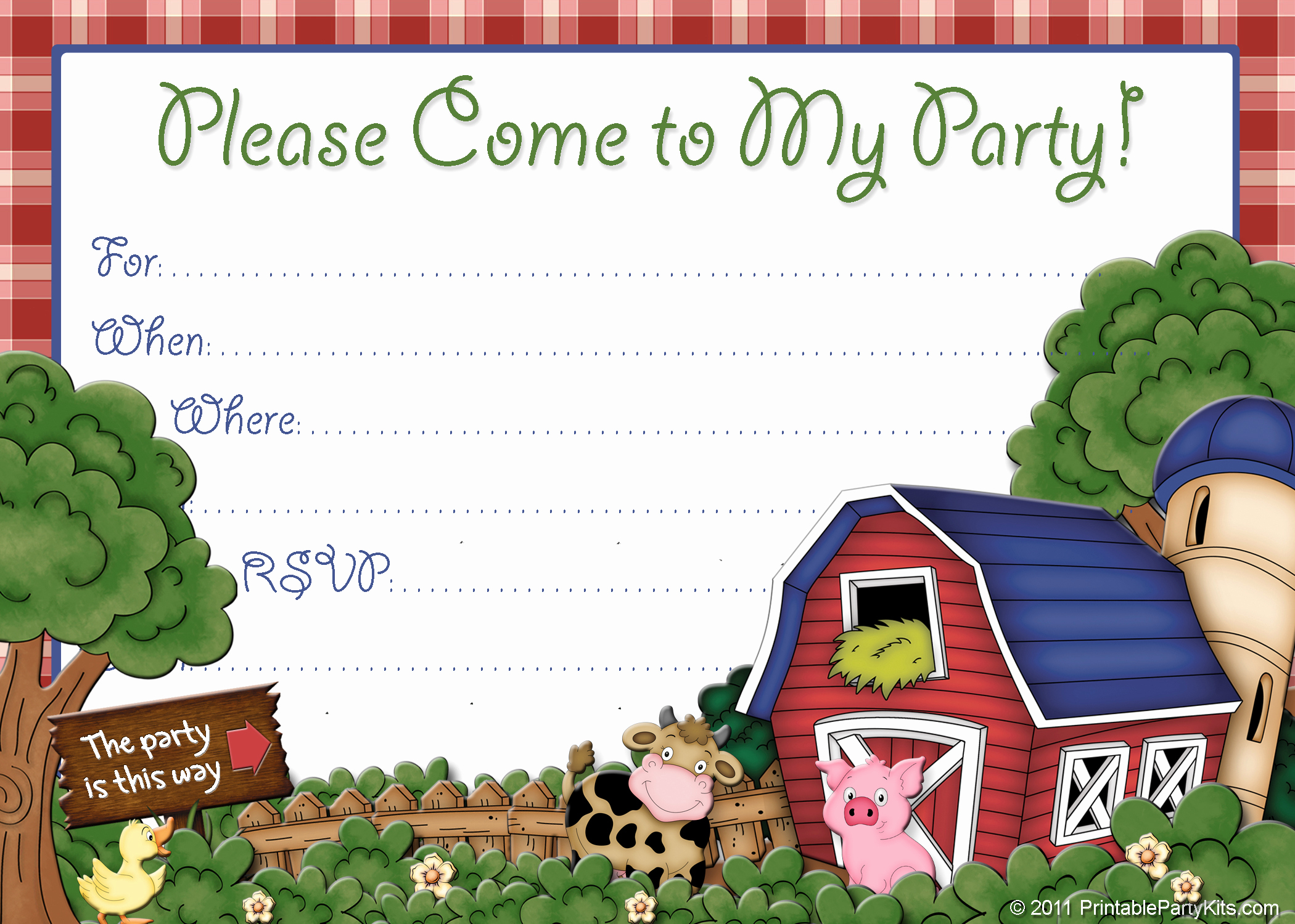 Farm Animal Birthday Invitation Best Of Free Farm Birthday Invitations – Free Printable Birthday