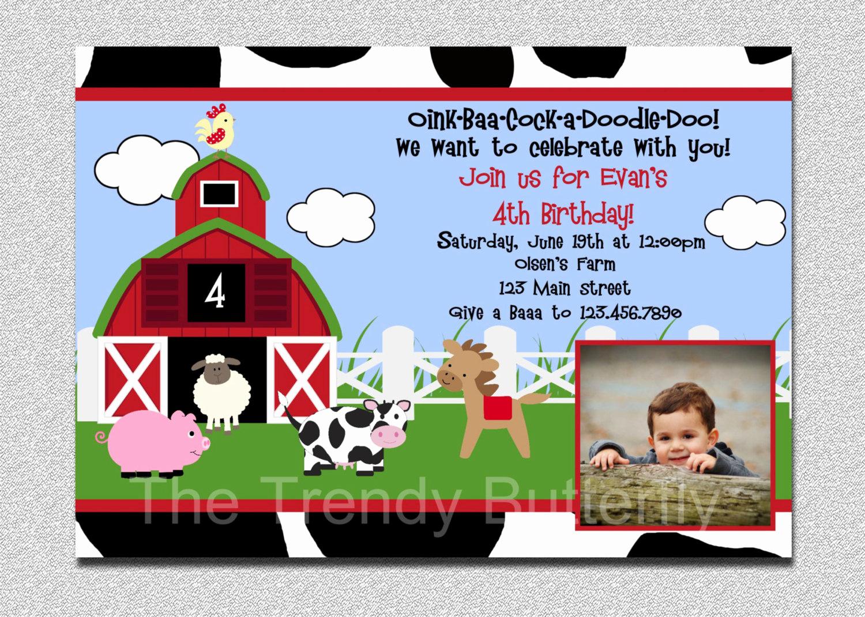 Farm Animal Birthday Invitation Elegant Farm Animals Birthday Invitation Farm Animal Barnyard Birthday