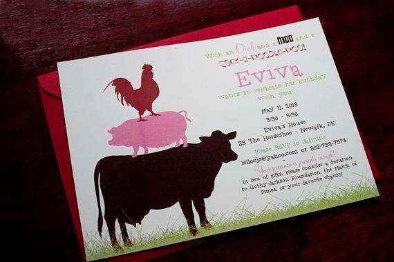 Farm Animal Birthday Invitation Fresh Farm Animals Party Invitation