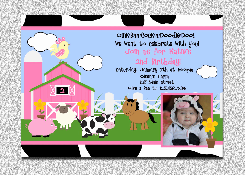 Farm Animal Birthday Invitation Inspirational Barnyard Birthday Invitation Farm Birthday Party Invites