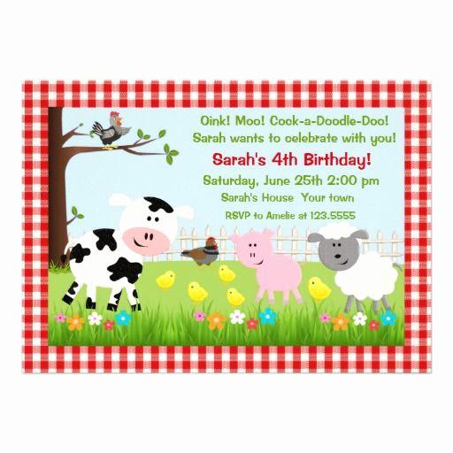 Farm Animal Birthday Invitation Lovely 1000 Images About Farm and Farm Animal Birthday Party